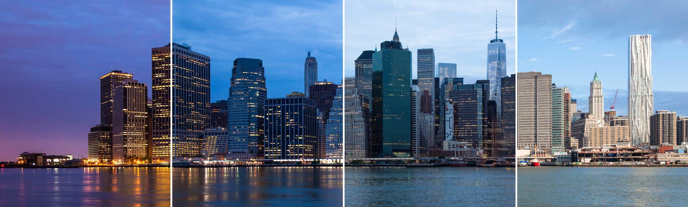 Montage of Manhattan Skyline